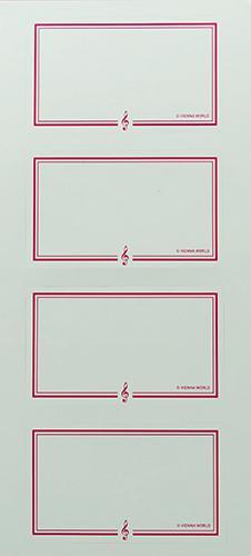 Etiketten Volinschlüssel rot (2 Blatt)