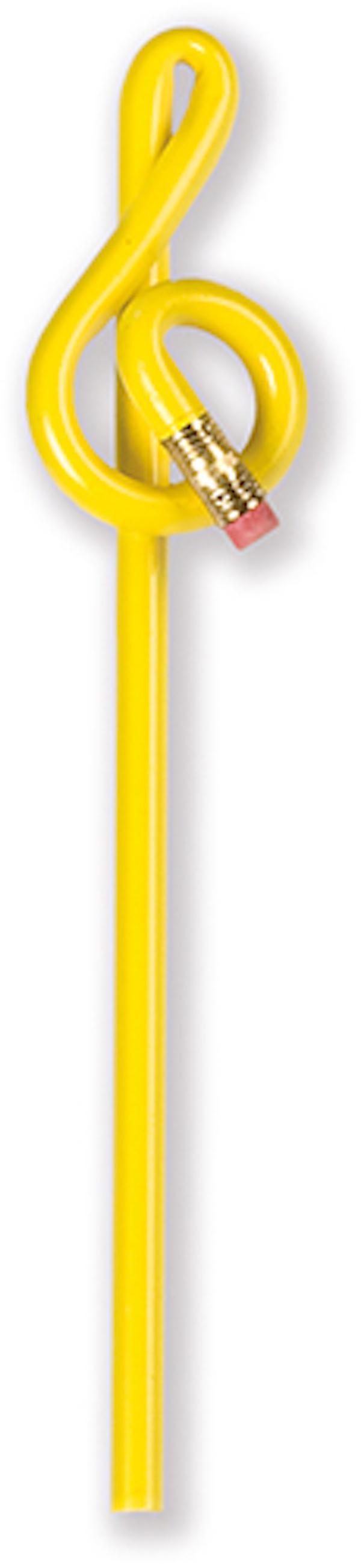 Violinschlüsselbleistift gelb