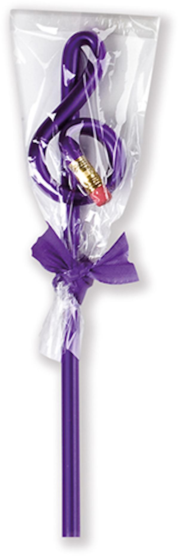 Violinschlüsselbleistift violett de luxe