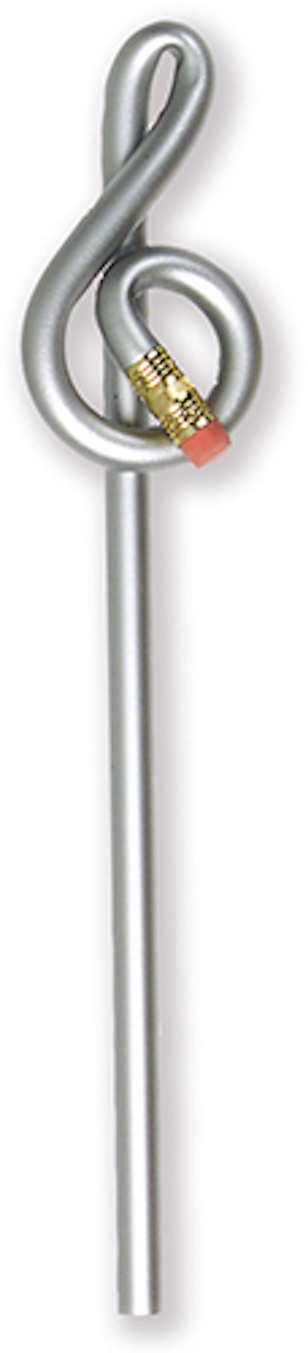 Violinschlüsselbleistift silber