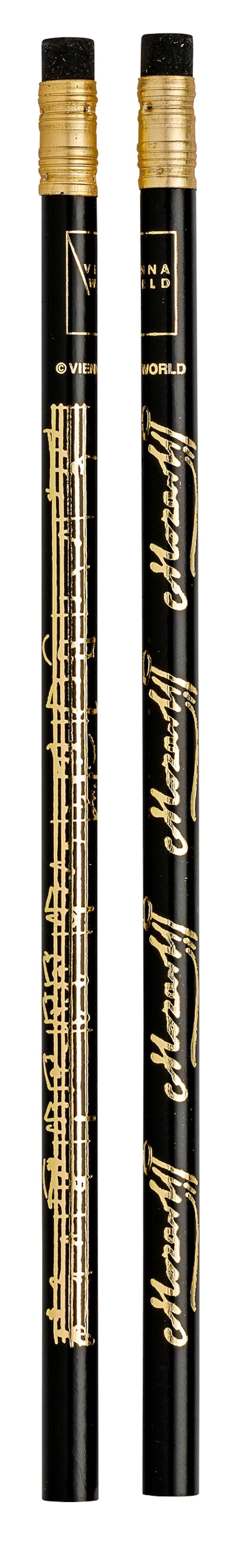 Bleistift Mozart schwarz