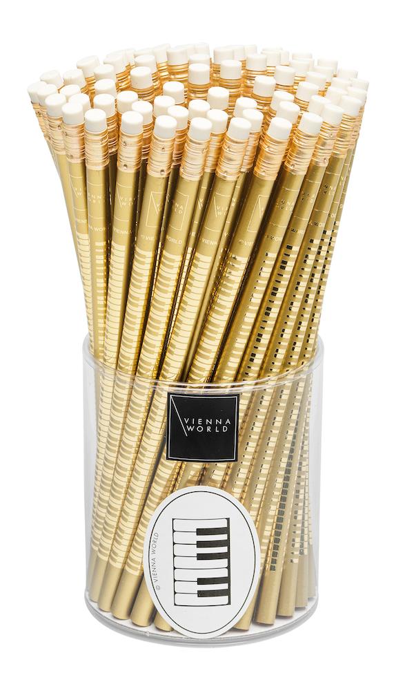Bleistiftbox Tastatur gold (72 Stk)