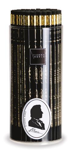 Bleistiftbox Chopin schwarz (72 Stk)