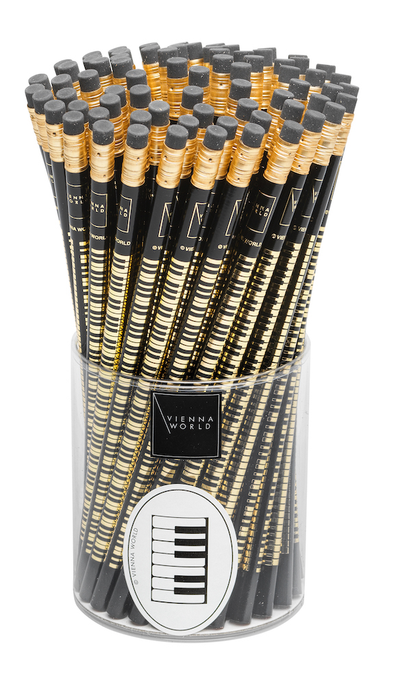 Bleistiftbox Tastatur schwarz (72 Stk)