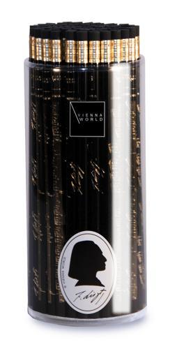 Bleistiftbox Liszt schwarz (72 Stk)