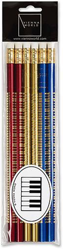 Bleistiftset Tastatur sortiert (6 Stk)