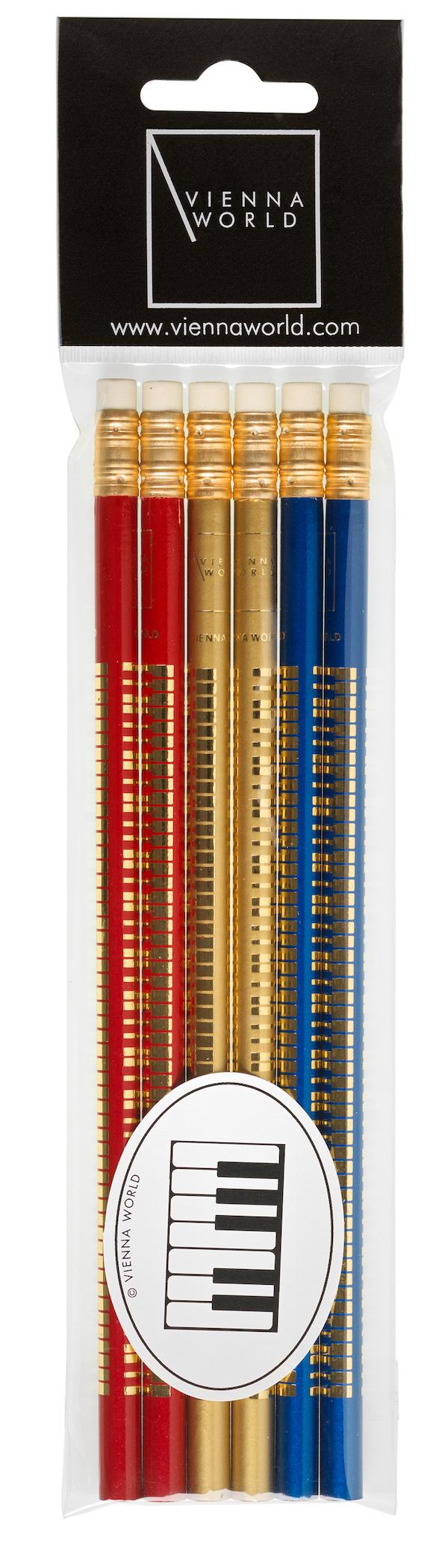 Bleistiftset Violinschlüssel bunt (6 Stk)