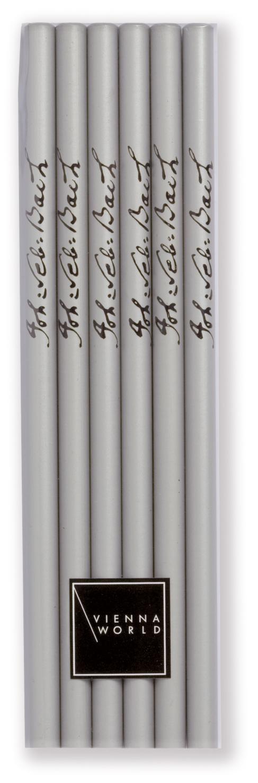 Bleistiftset Bach silber (6 Stk)