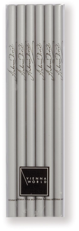 Bleistiftset Dvorak silber (6 Stück)