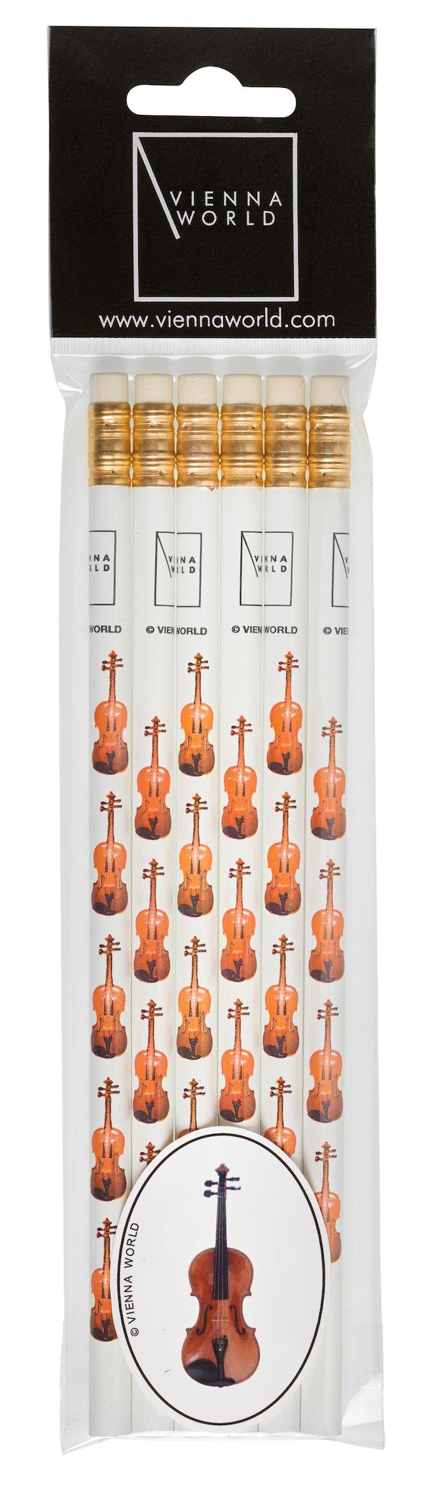 Bleistiftset Geige (6 Stk)