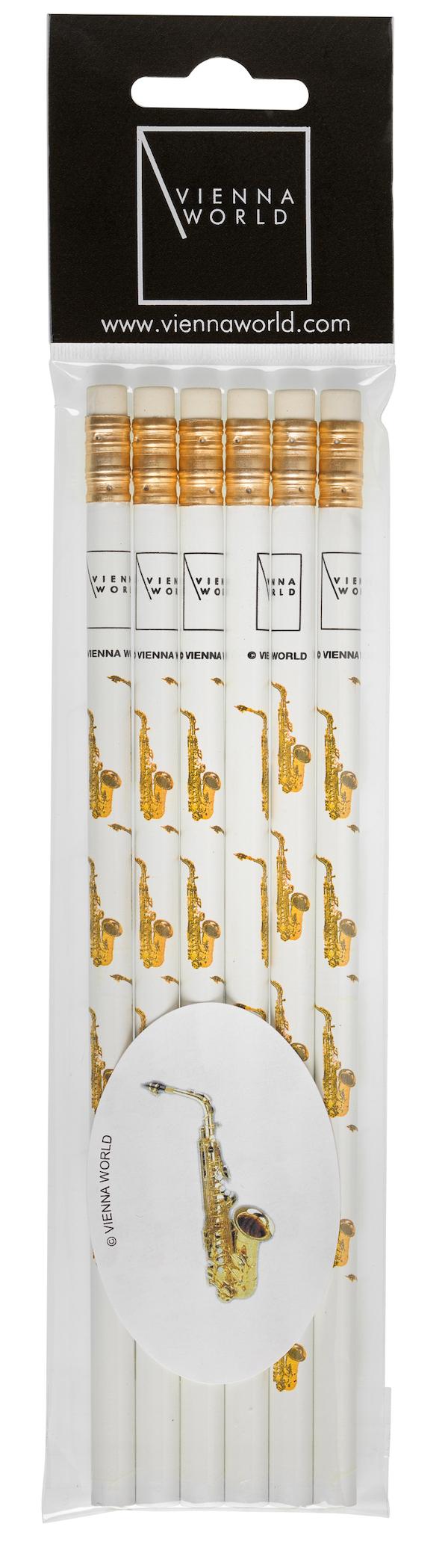 Bleistiftset Saxophon (6 Stk)