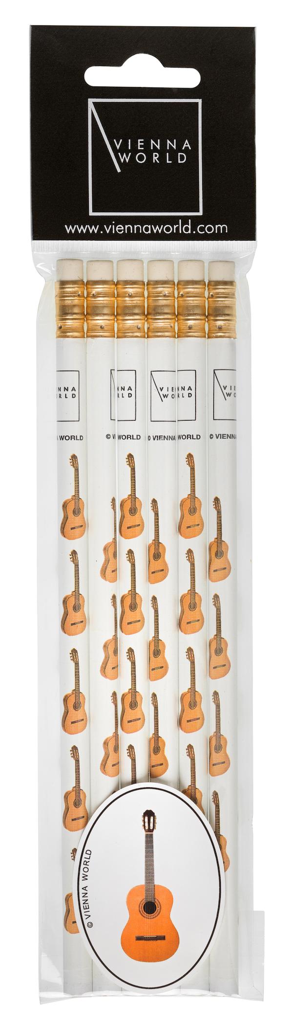 Bleistiftset Gitarre (6 Stk)