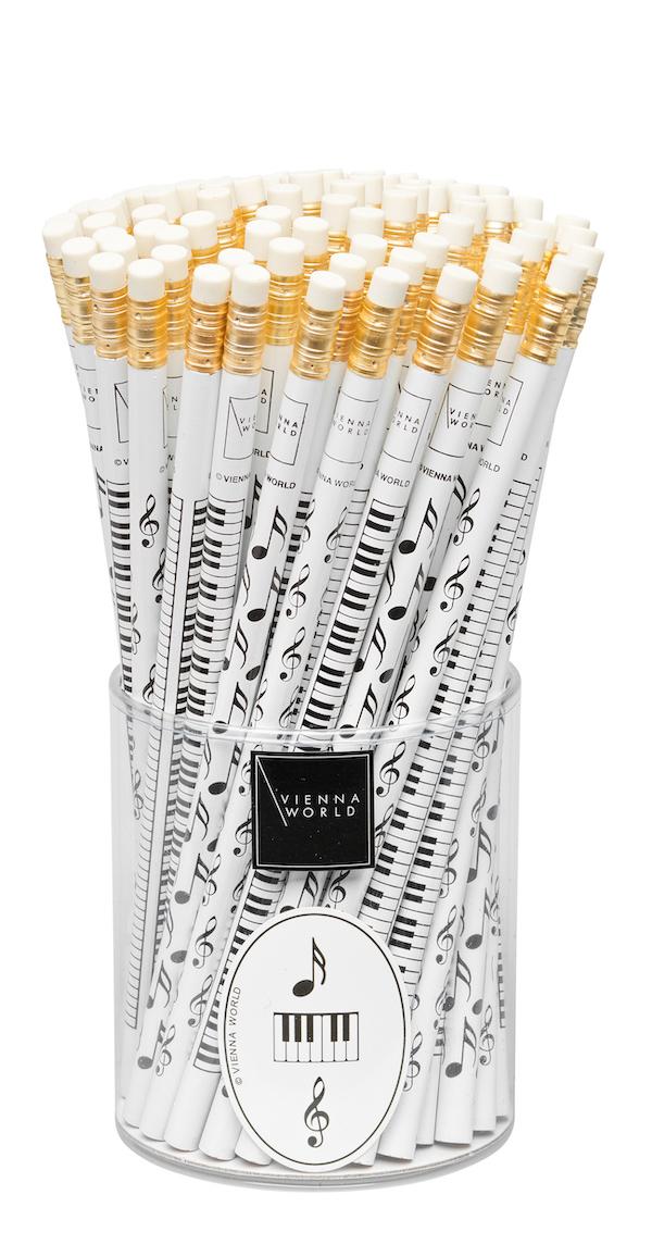 Bleistiftbox weiss sortiert (72 Stk)