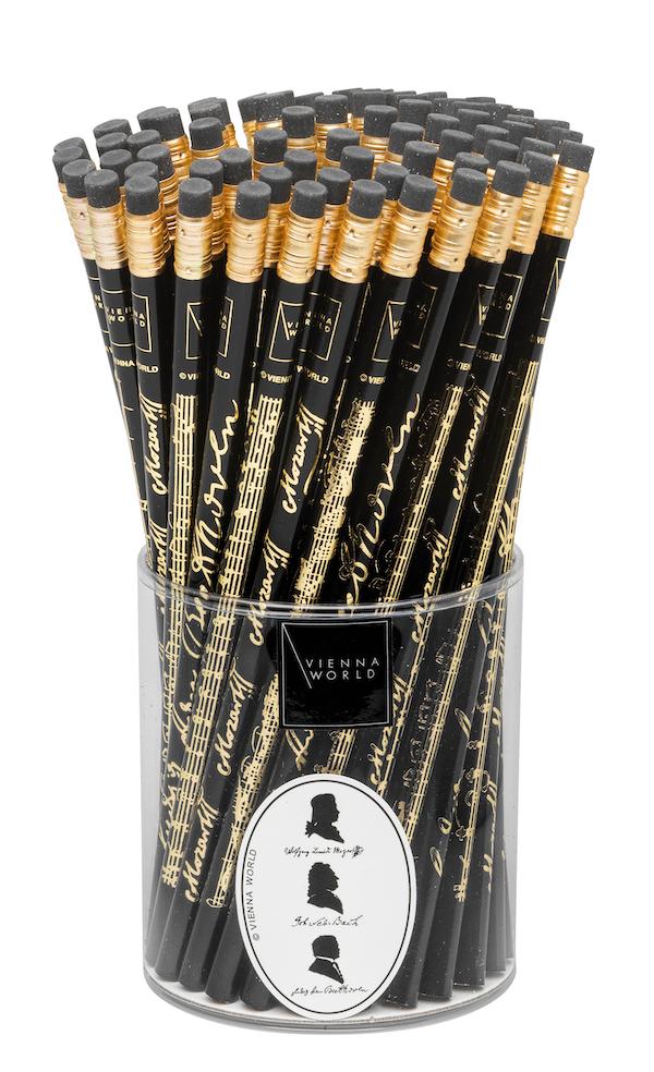 Bleistiftbox Komponisten schwarz (72 Stk)